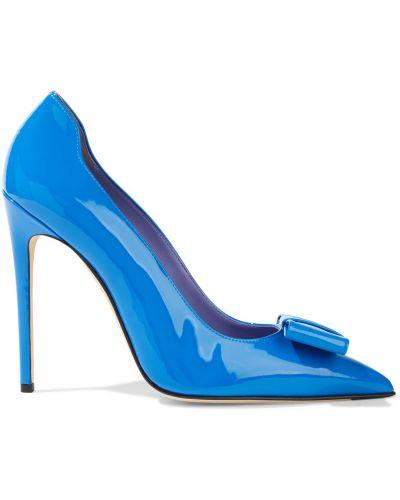 Czółenka w szpic - niebieskie Victoria Beckham