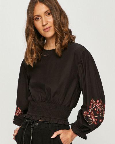Czarna bluzka z haftem z wiskozy Tally Weijl