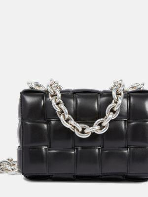 Черная сумка на цепочке из натуральной кожи Bottega Veneta