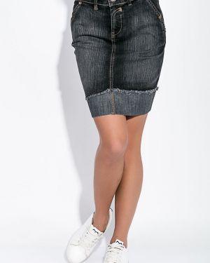 Джинсовая юбка с поясом повседневная Time Of Style