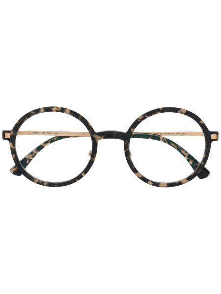 Czarny oprawka do okularów okrągły za pełne Mykita