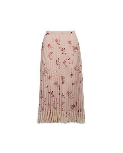 Плиссированная юбка миди Valentino Red