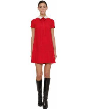 Платье мини на молнии с воротником Red Valentino