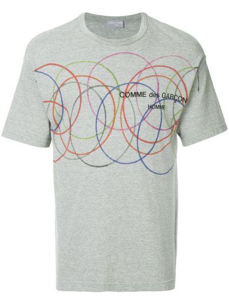 Хлопковая серая прямая футболка винтажная Comme Des Garçons Pre-owned
