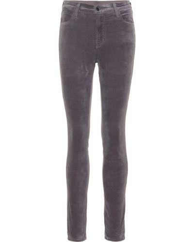 Szary zawężony bawełna bawełna obcisłe dżinsy J-brand