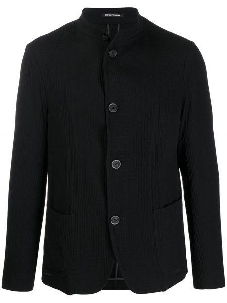 Пиджак с воротником-стойка с карманами Emporio Armani