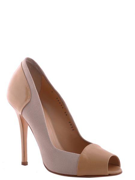 Кожаные туфли - бежевые Vicini