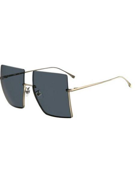 Żółte okulary Fendi