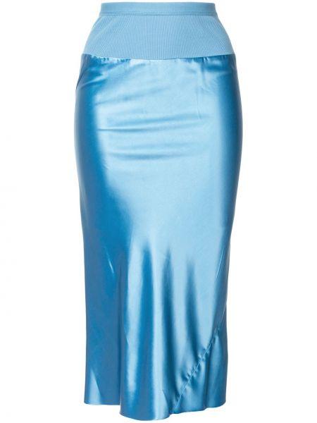 Bawełna bawełna wyposażone niebieski spódnica Rick Owens