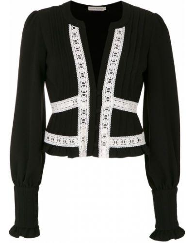 Блузка с длинным рукавом прямая черная Martha Medeiros