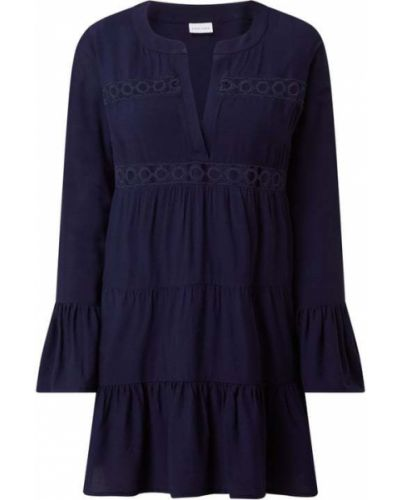 Sukienka mini rozkloszowana z falbanami z długimi rękawami Lascana