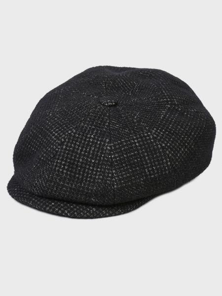 Шерстяная кепка - черная Bugatti