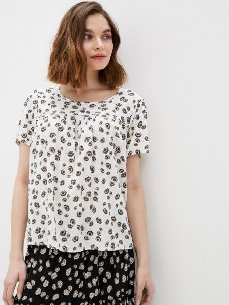 Белая блузка с коротким рукавом Baon