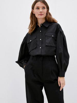 Рубашка с длинным рукавом - черная Miss Gabby