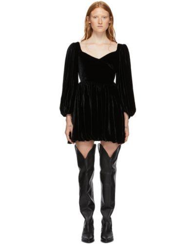 Платье мини с отложным воротником шелковое Wandering