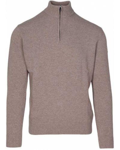 Golf sweter z łatami z zamkiem błyskawicznym Paul & Shark