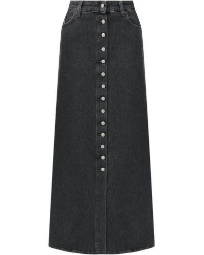 Джинсовая юбка темно-серый Mm6