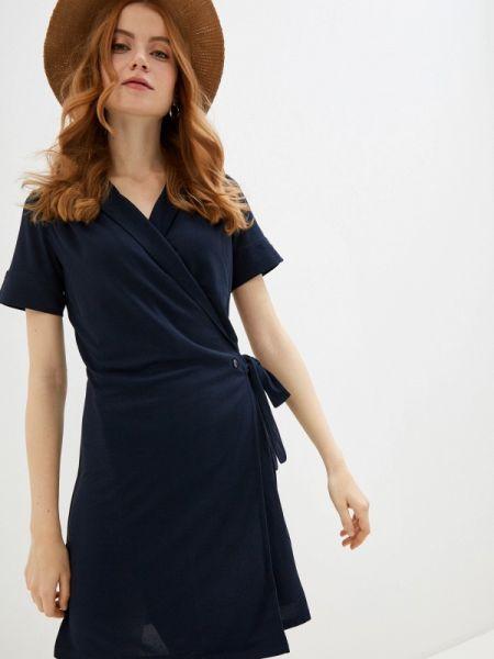 Платье с запахом синее Naf Naf