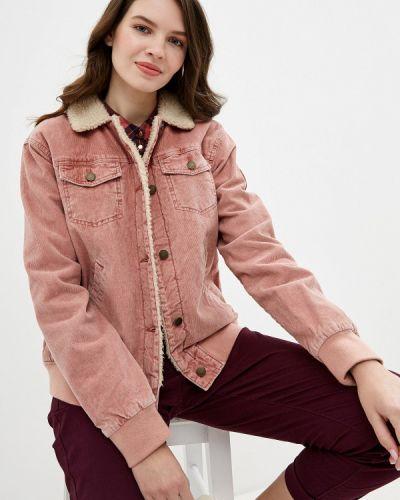 Утепленная куртка осенняя розовая Roxy