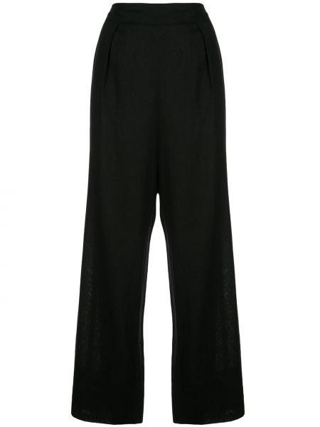 Черные брюки эластичные свободного кроя Natori