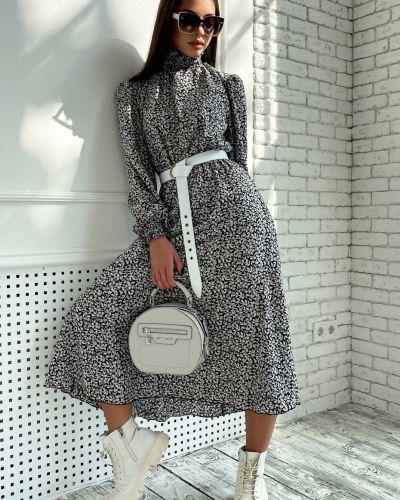 Шифоновое платье - черное Seventeen