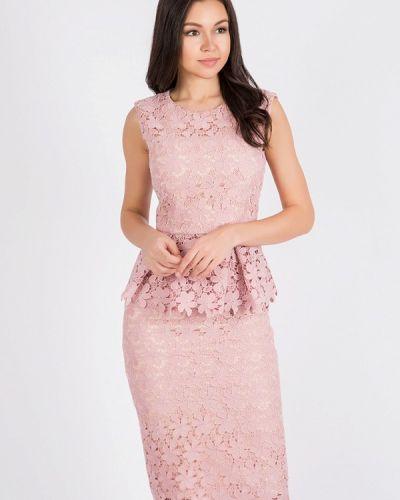Юбочный костюм розовый Madlen