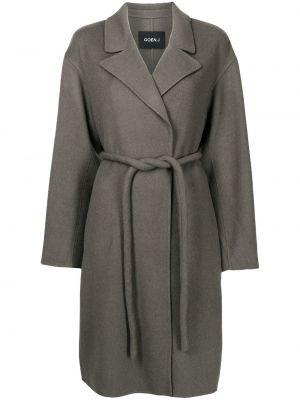 Шерстяное пальто - серое Goen.j