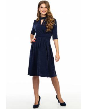 Вечернее платье с люрексом - синее Kapsula