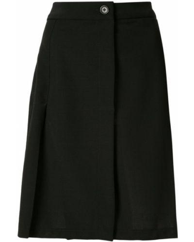 Черная приталенная юбка со складками Zambesi