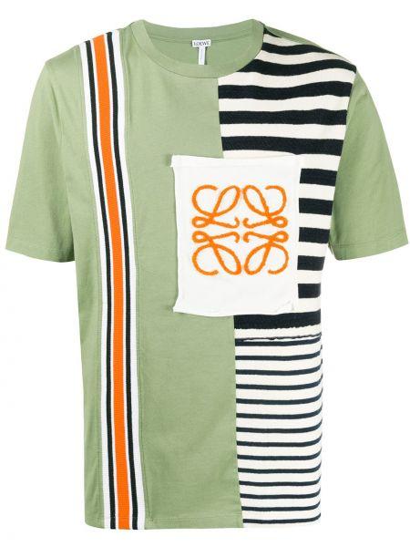 Koszula krótkie z krótkim rękawem w paski z logo Loewe