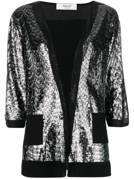 С рукавами прямая черная куртка Blugirl