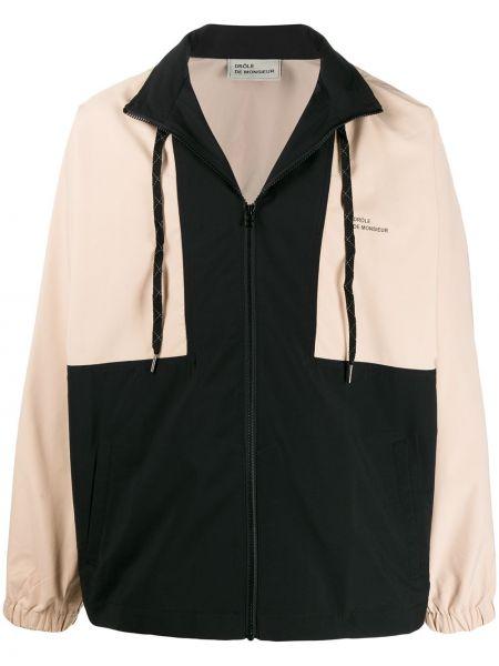 Czarna długa kurtka z długimi rękawami Drole De Monsieur