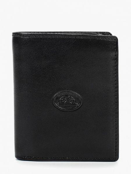 Кожаный кошелек - черный Tony Perotti