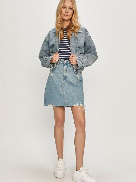 Джинсовая юбка - синяя Dr Denim