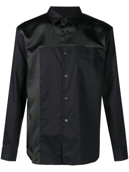 Czarna koszula bawełniana z długimi rękawami Comme Des Garcons Homme Deux