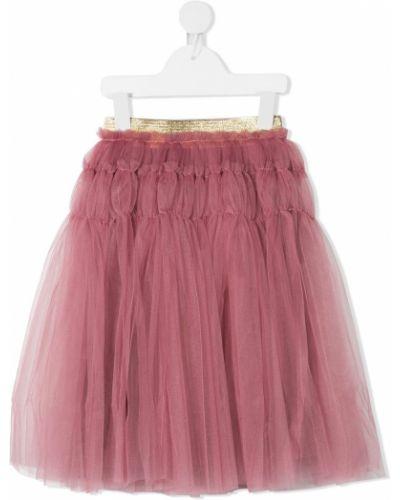 Фиолетовая пышная юбка с поясом из фатина Raspberry Plum