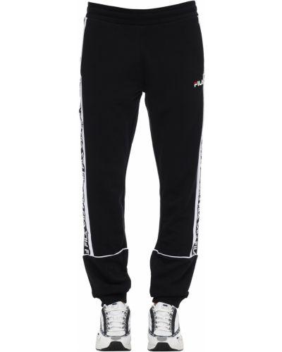 Czarne joggery bawełniane Fila Urban