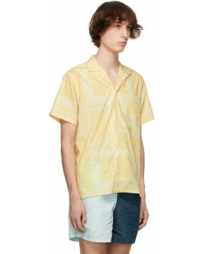 Biała koszula bawełniana krótki rękaw Bather