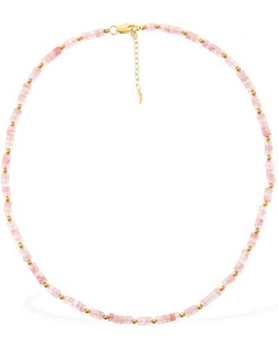 Złoty naszyjnik - różowy Missoma