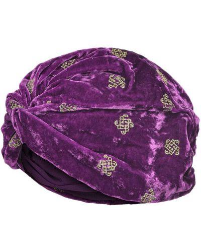 Jedwab turban z brokatem Pinko