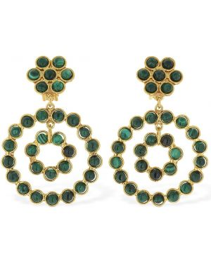 Zielone złote kolczyki sztyfty Sylvia Toledano