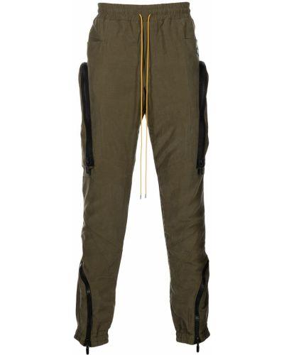 Zielone spodnie bawełniane Rhude