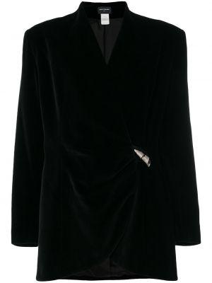 Черный пиджак винтажный на пуговицах Paco Rabanne Pre-owned