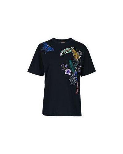 Черная футболка хлопковая Roberto Cavalli