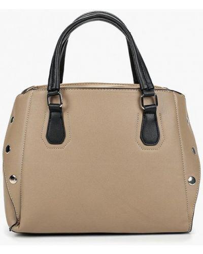 Кожаная сумка бежевый из искусственной кожи Piazza Italia