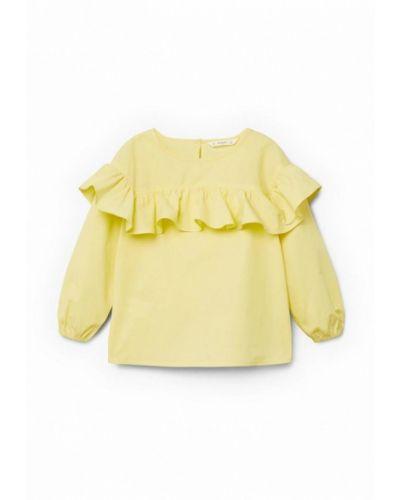 Желтая рубашка Mango Kids