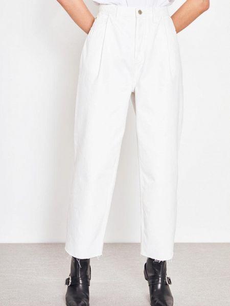 Прямые джинсы белые зеленый Lime