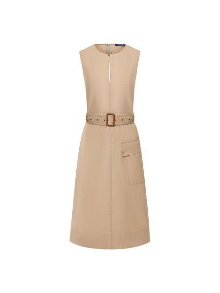 Платье с поясом на пуговицах кожаное Polo Ralph Lauren