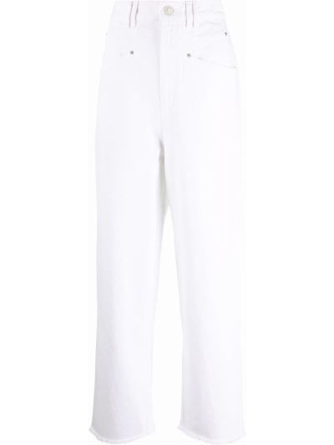 Klasyczne mom jeans - białe Isabel Marant