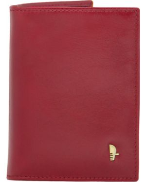 Красный кожаный футляр для очков Puccini